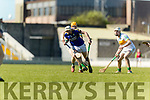 Shane Nolan Kerry in action against Sean Gardiner Offaly in the National Hurling League in Austin Stack Park, Tralee on Sunday.