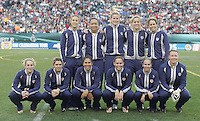 06 November,  2004.  The USWNT lines up for the pregame photo before playing Denmark at  Lincoln Financial Field in Philadelphia, Pa.