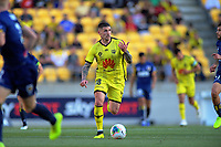Phoenix's Gary Hooper in action during the A-League football match between Wellington Phoenix and Central Coast Mariners at Westpac Stadium in Wellington, New Zealand on Saturday, 4 January 2020. Photo: Dave Lintott / lintottphoto.co.nz