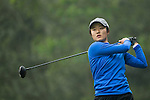 Liu Yu of China tees off at the 14th hole during Round 3 of the World Ladies Championship 2016 on 12 March 2016 at Mission Hills Olazabal Golf Course in Dongguan, China. Photo by Victor Fraile / Power Sport Images