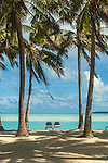 View for two at Aitutaki Lagoon Resort & Spa on Aitutaki, Cook Islands.