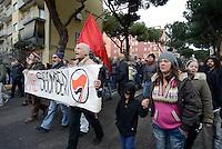 Roma, 10 Febbraio 2016<br /> Contro sfratti e sgomberi.<br /> colazione resistente e corteo fino al municipio di Cinecittà contro lo sgombero annuncito del Centro Sociale Corto Circuito