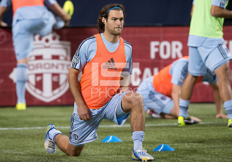 March 9, 2013: Sporting KC midfielder/forward Graham Zusi #8 in action during the warm-up in a game between Toronto FC and Sporting Kansas City at the Rogers Centre in Toronto, Ontario Canada..Toronto FC won 2-1.