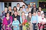 BIRTHDAY CELEBRATIONS:  Peggy Corkery, Castlemaine (seated centre), celebrated her birthday at the Fishery on Saturday evening with family and friends. Seated: Helen, John, Finbarr, Peggy, Nora, Christy, Tim and Kaylin Corkery. Standing: Joan Prendergast, Gerri, Jacqui, Thady and Jack Corkery, Moss Prendergast, John McKenzie, Saoirse, Cal and Ruairi Corkery.   Copyright Kerry's Eye 2008