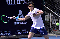 SANTA MARTA - COLOMBIA, 02-12-2019: Federico Juan Aguilar, Argentina, superó 6-0 y 6-3 al colombiano Santiago Chisco y avanzó en el Qualy como parte del M15 Santa Marta Tennis Open 2019 que se juega entre el 2 y el 8 de diciembre de 2109 en el Complejo de raquetas la Libertad de la ciudad de Santa Marta. / Federico Juan Aguilar, Argentina, beat Colombia's Santiago Chisco 6-0 and 6-3 and advanced in Qualy as part of M15 Santa Marta Tennis Open 2019 that take place between between December 2 to 8, 2019 at Complejo de raquetas La Libertad in Santa Marta city. VizzorImage / Gustavo Pacheco / Cont