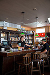 The Produce Row Cafe in the Southeast industrial district in Portland, Oregon offers up pub fare including beer-battered fries.