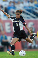 Shannon Boxx of the Power during first half action. Boxx scored her team's only goal in the 61 minute. The Atlanta Beat and the NY Power played to a 1-1 tie on 7/26/03 at Mitchel Athletic Complex, Uniondale, NY.