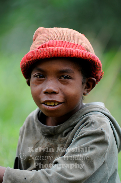 Young Malagasy boy smiles for the camera. Moramanga - Central Madagascar.