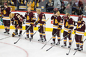 Wade Bergman (Duluth - 28), Justin Faulk (Duluth - 25), Jake Hendrickson (Duluth - 15), J.T. Brown (Duluth - 23), Keegan Flaherty (Duluth - 14), Brady Lamb (Duluth - 2), Drew Olson (Duluth - 8) - The University of Minnesota-Duluth Bulldogs defeated the University of Michigan Wolverines 3-2 (OT) to win the 2011 D1 National Championship on Saturday, April 9, 2011, at the Xcel Energy Center in St. Paul, Minnesota.