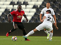 Andy Upperton (R) of Swansea Legends during the Alan Tate Testimonial Match, Swansea City Legends v Manchester United Legends at the Liberty Stadium, Swansea, Wales, UK