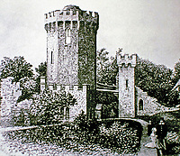 Sham ruin at Radway Grange. Sanderson Miller, English landscape designer, 1745. Pioneer of Gothic Revival architecture.