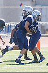 Torrance, CA 09/05/13 - unidentified North JV player(s) in action during the Peninsula vs North Junior Varsity football game played at North High School in Torrance, California.