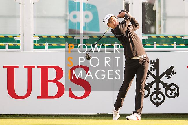 Yue Yin-Ho of Hong Kong tees off the first hole during the 58th UBS Hong Kong Open as part of the European Tour on 08 December 2016, at the Hong Kong Golf Club, Fanling, Hong Kong, China. Photo by Marcio Rodrigo Machado / Power Sport Images