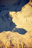 USA, Alaska, a view of a snow covered ridge on Mount Denali, Denali National Park