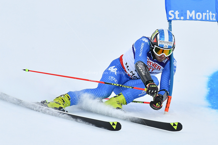 February 17, 2017: Manfred MOELGG (ITA) competing in the men's giant slalom event at the FIS Alpine World Ski Championships at St Moritz, Switzerland. Photo Sydney Low