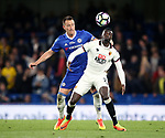 Chelsea's John Terry tussles with Watford's M'Baye Niang during the Premier League match at Stamford Bridge Stadium, London. Picture date: May 15th, 2017. Pic credit should read: David Klein/Sportimage