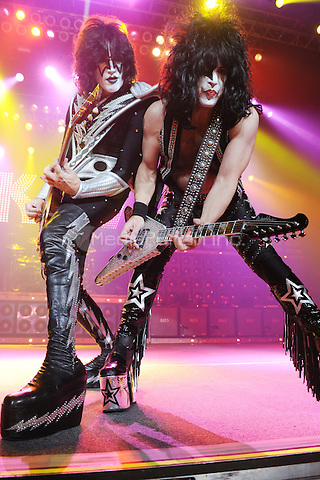HOLLYWOOD FL - MARCH 17 :  Paul Stanley and Tommy Thayer of KISS perform at Bank Atlantic on March 17, 2011 in Hollywood, Florida. © mpi04/MediaPunch Inc..