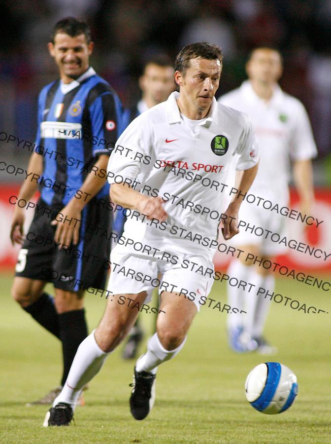 Fudbal, farewell of Sinisa Mihajlovic.FK Inter Vs. Sinisa friends, oprostajni mec.Slavisa Jokanovic.Novi Sad, 05.28.2007..foto: Srdjan Stevanovic