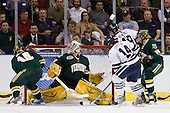 Brian Roloff (Vermont - 14), Rob Madore (Vermont - 29), Broc Little (Yale - 14), Denny Kearney (Yale - 19), Kevan Miller (Vermont - 15) - The University of Vermont Catamounts defeated the Yale University Bulldogs 4-1 in their NCAA East Regional Semi-Final match on Friday, March 27, 2009, at the Bridgeport Arena at Harbor Yard in Bridgeport, Connecticut.
