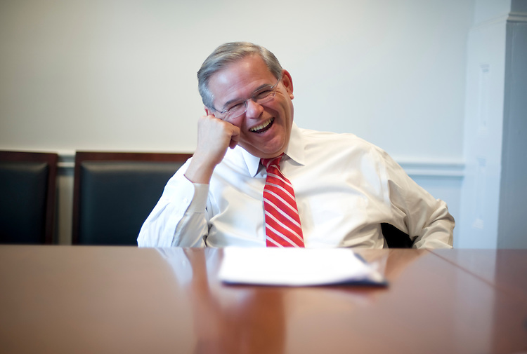 Sen. Robert Menendez, D-N.J., chairman of the DSCC, is interviewed by Roll Call, March 18, 2009.
