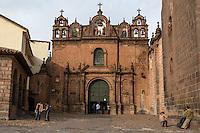 Peru, Cusco.  Church of Triumph (Iglesia del Triunfo), Oldest Church in Cusco, mid-16th. Century.