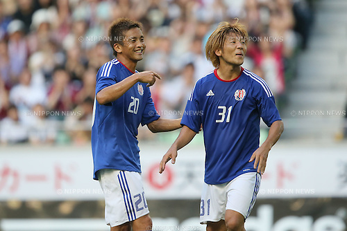 (L to R) Junichi Inamoto, Masashi Oguro, .JULY 16, 2012 - Football / Soccer : Tsuneyasu Miyamoto Testimonial match between Tsune Friends VS Vissel Kobe Friends VS Gamba Friends at Home's Stadium Kobe in Hyogo, Japan. (Photo by Akihiro Sugimoto/AFLO SPORT) [1080]