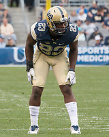 Pitt linebacker Oluwaseun Idowu. The Pitt Panthers defeated the Youngstown State Penguins 28-21 in overtime at Heinz Field, Pittsburgh, Pennsylvania on September 02, 2017.