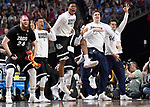 GLENDALE, AZ - APRIL 03: Przemek Karnowski #24 and the Gonzaga Bulldogs bench reacts to a 3-pointer against the North Carolina Tar Heels during the 2017 NCAA Men's Final Four National Championship game at University of Phoenix Stadium on April 3, 2017 in Glendale, Arizona.  (Photo by Jamie Schwaberow/NCAA Photos via Getty Images)
