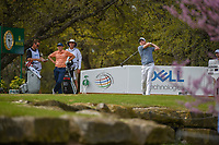 Russell Henley (USA) watches his tee shot on 10 during day 2 of the World Golf Championships, Dell Match Play, Austin Country Club, Austin, Texas. 3/22/2018.<br /> Picture: Golffile | Ken Murray<br /> <br /> <br /> All photo usage must carry mandatory copyright credit (&copy; Golffile | Ken Murray)