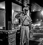 """""""GOOD MORNING CAFB""""<br /> <br /> March 1964: CAFB, California<br /> Staff of the Valley Bomber, 93rd Bomb Wing, Directory of Information, SAC<br /> Photo by Al Golub/Golub Photography <br /> <br /> Castle is named for Brigadier General Frederick W. Castle, who died on Dec. 24, 1944 flying his 30th bombing mission. He died leading an armada of 2000 B-17s on a strike against German airfields. On the way to the target, an engine failure over Liege, Belgium caused his bomber to fall behind, where it was attacked by Germans and caught fire. He ordered his men to bail out but stayed alone at the controls of the flaming Flying Fortress until it crashed. The entire crew, except Gen. Castle and one airman killed before the bailout order, survived. Gen. Castle received a Medal of Honor posthumously for his bravery.<br /> <br /> Castle became home to the 93rd Bombardment Wing in 1947. Aircraft stationed at Castle included B-29, B-17 and C-54 aircraft, with B-50 bombers arriving in 1949. In 1954, B-47 bombers arrived.  On June 29, 1955, Castle received the Air Force's first B-52. These heavy bombers can hold the equivalent of three railroad cars' worth of fuel. The first Air Force KC-135 jet tanker arrived May 18, 1957<br /> <br /> Castle was selected for closure under the Defense Base Closure and Realignment Act of 1990 during Round II Base Closure Commission deliberations (BRAC 91). The last of the B-52s left the base in 1994, followed by the departure of the last of the KC-135s in early 1995. The base closed September 30, 1995."""
