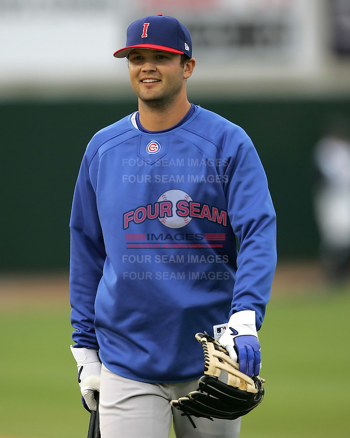 Iowa Cubs Scott Moore during the 2007 Pacific Coast League Season. Photo by Andrew Woolley/ Four Seam Images.