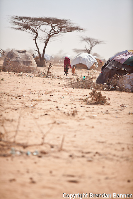Fierce winds create dust storms in Dadaab refugee camp in Kenya. The last rains were 13 months ago in June 2010.