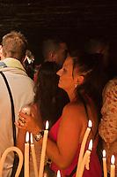 France/13/Bouches du Rhone/Camargue/Parc Naturel Régionnal de Camargue/Saintes Maries de la Mer: Dans la crypte de l'église, lors du Pélerinage les gitans célèbrent Sainte Sara, la Vierge Noire [Non destiné à un usage publicitaire - Not intended for an advertising use] [Non destiné à un usage publicitaire - Not intended for an advertising use]