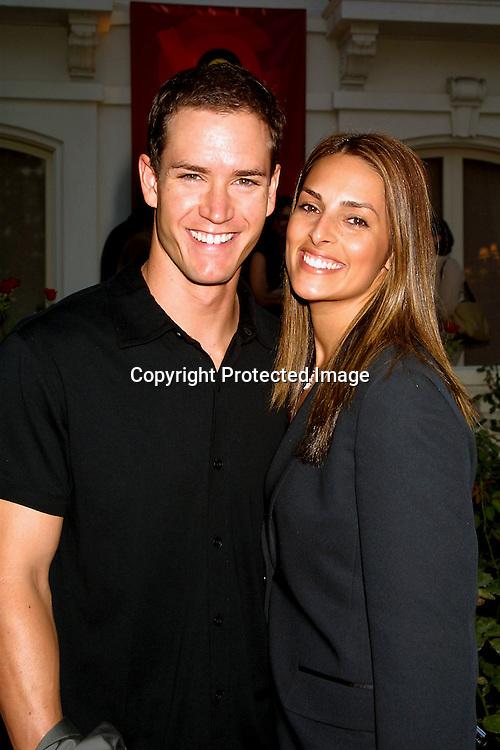 ©2002 KATHY HUTCHINS / HUTCHINS PHOTO.ABC TCA PRESS TOUR PARTY -.TOURAMENT OF ROSES HOUSE.PASADENA, CA.7/18/02.MARK PAUL GOSSLEAR AND  WIFE LISA