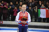 SHORT TRACK: TORINO: 15-01-2017, Palavela, ISU European Short Track Speed Skating Championships, Podium 1000m Ladies, Ekaterina Konstantinova (RUS), ©photo Martin de Jong