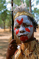 Young Lockhart River Dancer, Laura Aboriginal Dance Festival, Laura, Cape York Peninsula, Queensland, Australia.