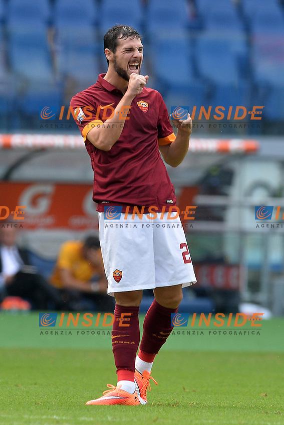 Mattia Destro Roma.<br /> Roma 21-09-2014 Stadio Olimpico. Football Calcio 2014/2015 Serie A. AS Roma - Cagliari. Foto Antonietta Baldassarre / Insidefoto