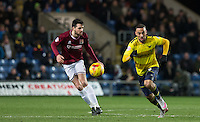 Kemar Roofe of Oxford United chases the ball during the Sky Bet League 2 match between Oxford United and Northampton Town at the Kassam Stadium, Oxford, England on 16 February 2016. Photo by Andy Rowland.