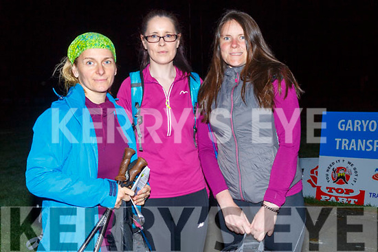 On the Road to walk in the St Pats GAA Club Dingle Way Challenge on Sunday morning, Sona Dowd,Veronica and Mary Garvey