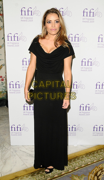 ELEN RIVAS.Fifi UK Fragrance Awards 2009, The Dorchester hotel, London, England..April 22nd 2009.full length black long maxi dress clutch bag .CAP/CAN.©Can Nguyen/Capital Pictures.