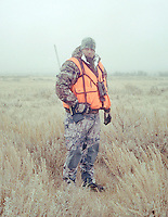 Jake Jacobs during a white tail deer hunt at Trope Ranch near Hullett, Wyoming, Wednesday, November 7, 2012.<br /> <br /> <br /> Photo by Matt Nager
