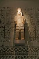 Mayan sculpture in the Mundo Maya Museum in Merida, Yucatan, Mexico