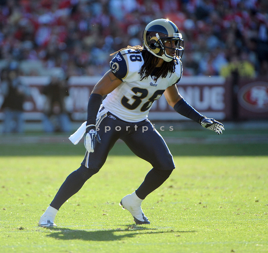 JOSH GORDY, of the St. Louis Rams, in action during the Rams game against the San Francisco 49ers on December 4, 2011 at Candlestick Park in San Francisco, CA. The 49ers beat the Rams 26-0.