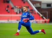 2nd December 2017, bet365 Stadium, Stoke-on-Trent, England; EPL Premier League football, Stoke City versus Swansea City; Jack Butland of Stoke City goes through his warm up routine