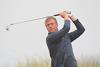 Michael Ryan Jnr (New Ross) on the 1st tee during Round 1 - Matchplay of the North of Ireland Championship at Royal Portrush Golf Club, Portrush, Co. Antrim on Wednesday 11th July 2018.<br /> Picture:  Thos Caffrey / Golffile