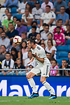 Gareth Bale of Real Madrid heads the ball during the La Liga 2018-19 match between Real Madrid and Getafe CF at Estadio Santiago Bernabeu on August 19 2018 in Madrid, Spain. Photo by Diego Souto / Power Sport Images