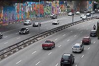 SÃO PAULO-SP-07,10,2014- TRÂNSITO SÃO PAULO/CORREDOR LESTE/OESTE - O Motorista não enfrenta lentidão no Corredor Leste/Oeste ambos sentidos;Região central da cidade de São Paulo,no começo da tarde dessa Terça-Feira,07 (Foto:Kevin David/Brazil Photo Press)
