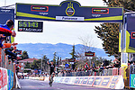 Geraint Thomas (WAL) Team Sky wins Stage 2 solo of the 2017 Tirreno Adriatico running 229km from Camaiore to Pomarance, Italy. 9th March 2017.<br /> Picture: La Presse/Gian Mattia D'Alberto | Cyclefile<br /> <br /> <br /> All photos usage must carry mandatory copyright credit (&copy; Cyclefile | La Presse)