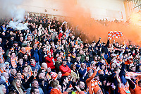Blackpool fans celebrate<br /> <br /> Photographer Richard Martin-Roberts/CameraSport<br /> <br /> The EFL Sky Bet League One - Blackpool v Southend United - Saturday 9th March 2019 - Bloomfield Road - Blackpool<br /> <br /> World Copyright © 2019 CameraSport. All rights reserved. 43 Linden Ave. Countesthorpe. Leicester. England. LE8 5PG - Tel: +44 (0) 116 277 4147 - admin@camerasport.com - www.camerasport.com