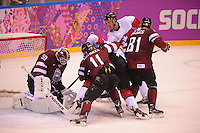 OLYMPICS: SOCHI: Bolshoy Ice Dome, 19-02-2014, Ice Hockey, Men's Play-offs Quarterfinals, Canada-Latvia, final result 2-1, ©photo Martin de Jong